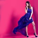 Beautiful brunette iin long dress Royalty Free Stock Photo