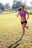 Beautiful Brunette Jogging Outdoors (3) Stock Images