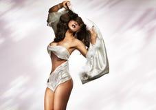 Beautiful brunette lady Stock Image