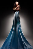 Beautiful brunette in long dress Royalty Free Stock Images