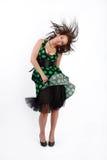 Beautiful brunette model stock image