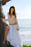 Beautiful brunette model Stock Photography