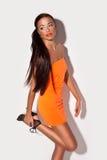 Beautiful Brunette Model Posing Stock Image