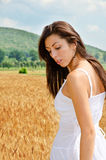 Beautiful brunette outdoor Royalty Free Stock Image