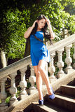 Beautiful brunette in a park Royalty Free Stock Images