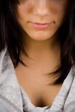 Beautiful brunette part of face Royalty Free Stock Image