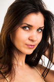 A beautiful brunette Stock Photo