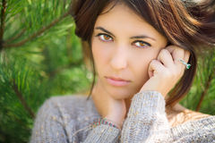 Beautiful brunette portrait. Royalty Free Stock Photos