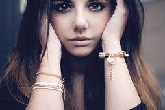 Beautiful brunette portrait Royalty Free Stock Image