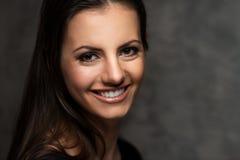 Beautiful brunette portrait Stock Photos