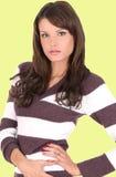 Beautiful brunette posing Stock Photos