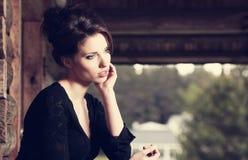 Beautiful brunette posing Stock Image