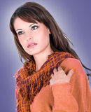 Beautiful brunette posing Stock Photo