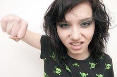Beautiful Brunette Rocker Girl Royalty Free Stock Image