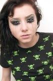 Beautiful Brunette Rocker Girl Stock Image