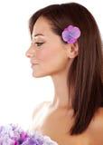 Sensual woman at spa Royalty Free Stock Photography