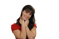 Beautiful Brunette Smiling (1) Royalty Free Stock Photos