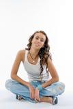 The beautiful brunette in studio Stock Photo