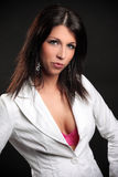 Beautiful brunette in the studio Royalty Free Stock Photo