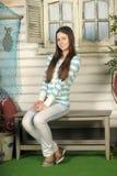 Beautiful brunette teen Stock Photography