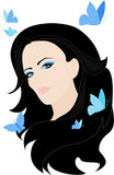 Beautiful brunette vector Stock Photo