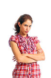 Beautiful brunette is very angry Royalty Free Stock Image