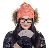 Stylish girl with credit card Stock Photos