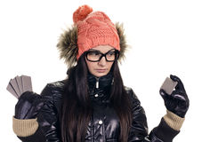 Stylish girl with credit card Stock Image