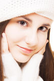 Beautiful brunette in winter outfit Stock Photography