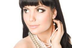Beautiful brunette woman Royalty Free Stock Photo
