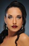 Beautiful brunette woman. Portrait of a beautiful brunette woman stock photography
