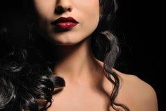 Beautiful brunette woman. Close-up portrait of a beautiful brunette woman royalty free stock image