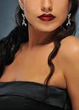 Beautiful brunette woman. Close-up portrait of a beautiful brunette woman stock photo