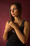 Beautiful brunette woman Stock Images