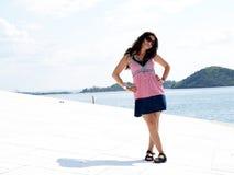Beautiful brunette woman Stock Photo