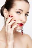 Beautiful brunette woman Stock Image