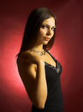 Beautiful brunette woman Royalty Free Stock Photo