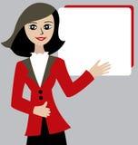 Beautiful brunette woman. Cartoon vector beautiful brunette woman Stock Photography