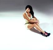 Beautiful brunette woman . Stock Photo