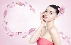 Beautiful brunette woman - body and skin care concept Stock Image