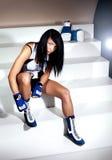Beautiful brunette woman boxer Stock Photography