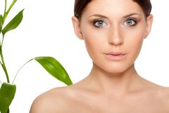 Beautiful brunette woman portrait Stock Photo