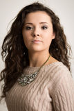 Beautiful Brunette Woman WIth Curls Royalty Free Stock Images