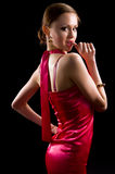Beautiful brunette woman in evening dress Royalty Free Stock Photos