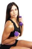 Beautiful brunette woman exercising Stock Photo
