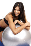 Beautiful brunette woman exercising Stock Photo