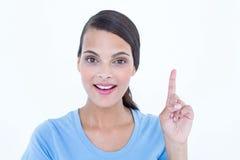 Beautiful brunette woman having an idea Stock Images