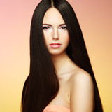 Beautiful brunette woman with long hair Stock Image