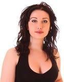 Beautiful brunette woman portrait Stock Image