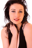 Beautiful brunette woman portrait Royalty Free Stock Image